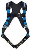 Tractel AB732/X Harness with TracX Pad, Dorsal D-Ring Tongue and Buckle Legs, Blue/Black, One Size