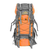 Teeker 60L Waterproof Hiking Backpack,Ultra Lightweight Packable Climbing Fishing Traveling Backpack Hiking Daypack,Handy Foldable Camping Trekking Outdoor Rucksack Bag (Orange)