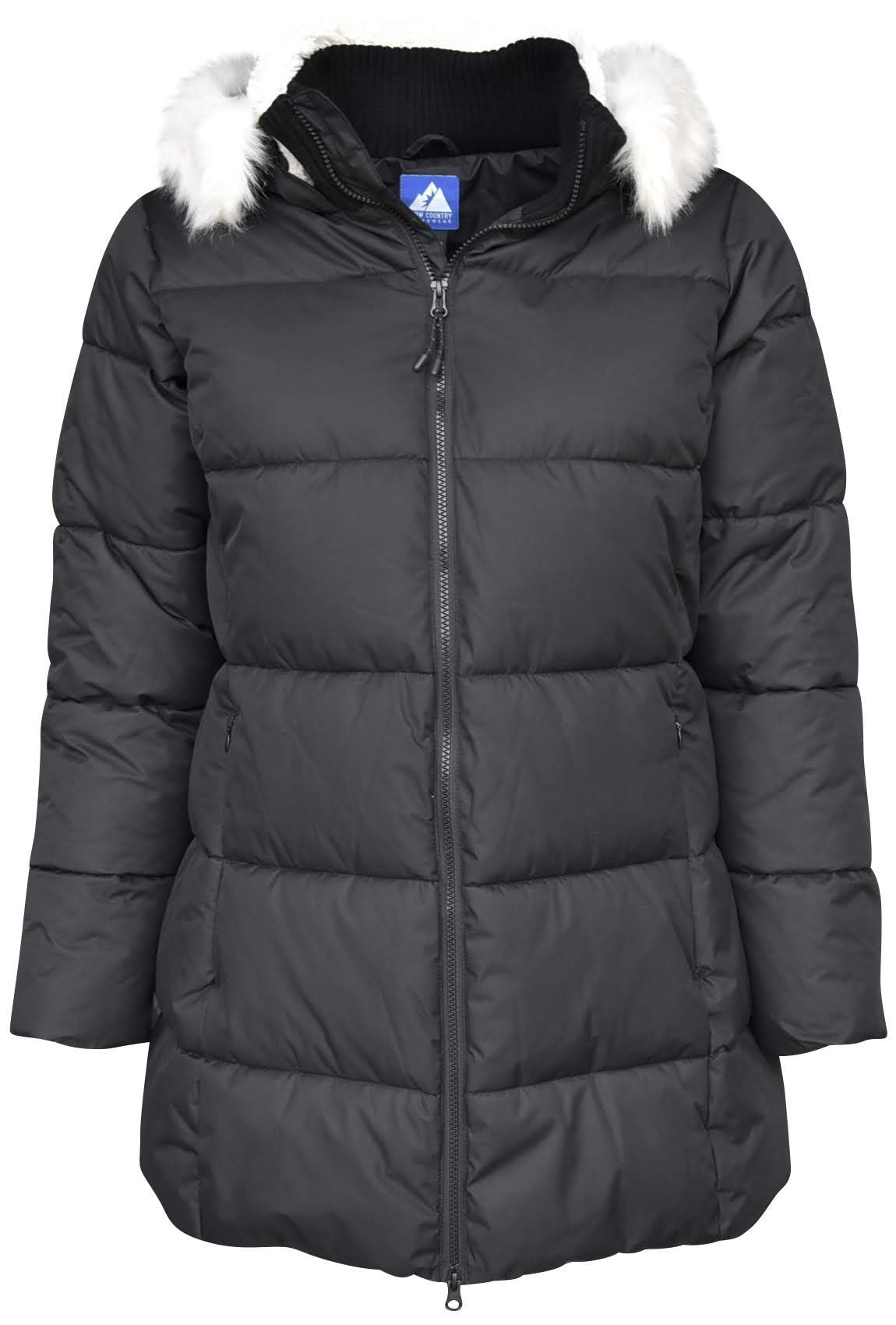 Snow Country Outerwear Women's Extended Plus Size Chelsea Down Alternative Parka Coat Jacket