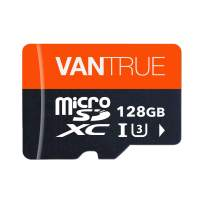 Vantrue 128GB U3 V30 Class 10 MicroSDXC UHS-I 4K UHD Video Monitoring Memory Card with Adapter for Dash Cams, Body Cams, Action Camera, Other Surveillance & Security Cams