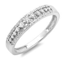 Dazzlingrock Collection 0.25 Carat (ctw) 14K Gold Round Diamond Ladies Anniversary Wedding Band Ring 1/4 CT