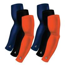 B-Driven Sports Pro-Fit Athletic Compression Arm Sleeves 6-Sleeve Variety Pack, Available in 40+ Team Color Combinations