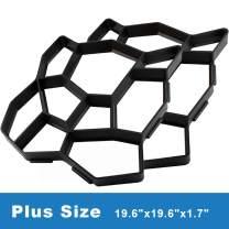 "CJGQ 2 Packs Plus Size 19.6""x19.6""x1.7"" Walk Maker Reusable Concrete Pathmate Stone Molding Stepping Stone Paver Lawn Patio Yard Garden DIY Path Maker Paving Moulds (Irregular)"