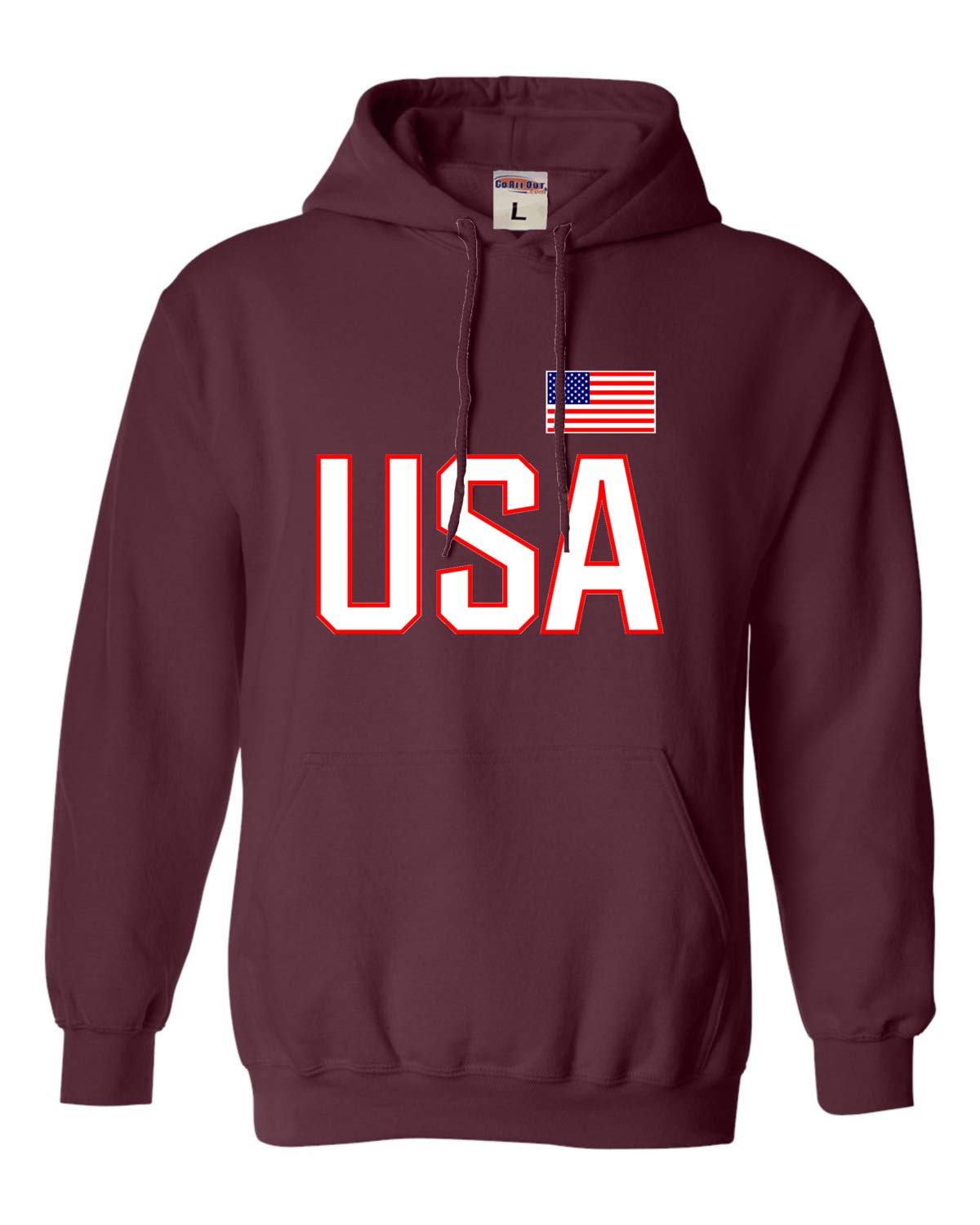 Go All Out Adult USA National Pride Sweatshirt Hoodie