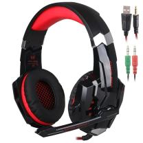 SENHAI G9000 3.5mm Game Gaming Headphone Headset Earphone Headband with Microphone LED Light for Computer Tablet Mobile Phones PS4 - Black/Red