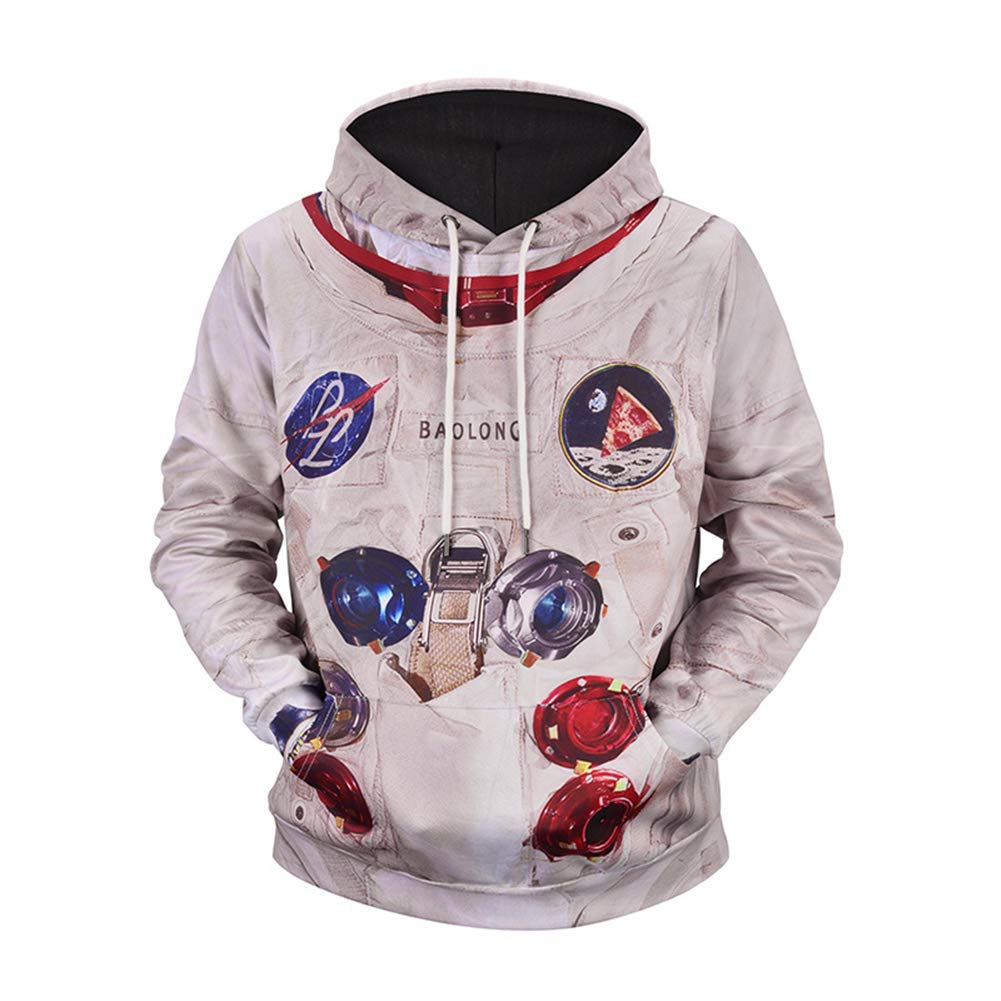 i-KindPec Men's 3D Patterns Printed Drawstring Sweaters Casual Hoodies Sweatshirts with Big Pockets IK3D001