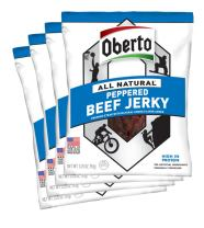 Oberto All-Natural Peppered Beef Jerky, 3.25 Ounce (Pack of 4)