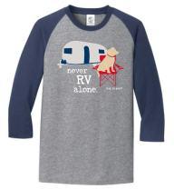 Dog is Good Mens T-Shirt: Never RV Alone Raglan