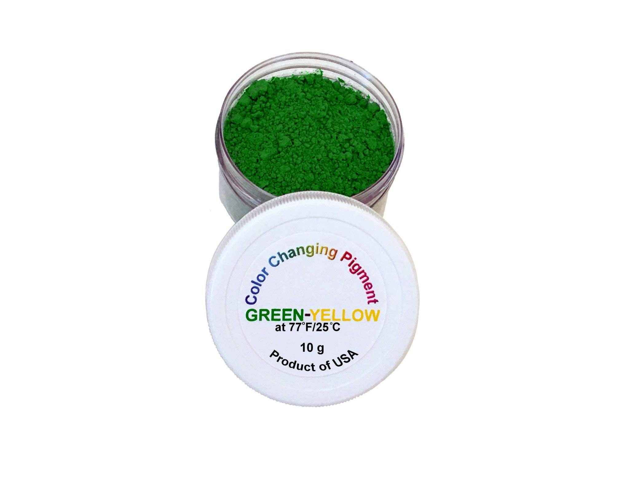 Temperature Activated Thermochromic Color Changing Powder Pigment Green Changing to Yellow at 77F/25C