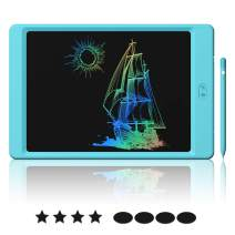 Yasolote LCD Writing Tablet, 10.5 inch Colorful Full&Partial Dual Erase Mode Drawing Board, Erasable Reusable Writing Pad, Educational Writing Board with Lock Screen Function Best Birthday (10.5-Blue)