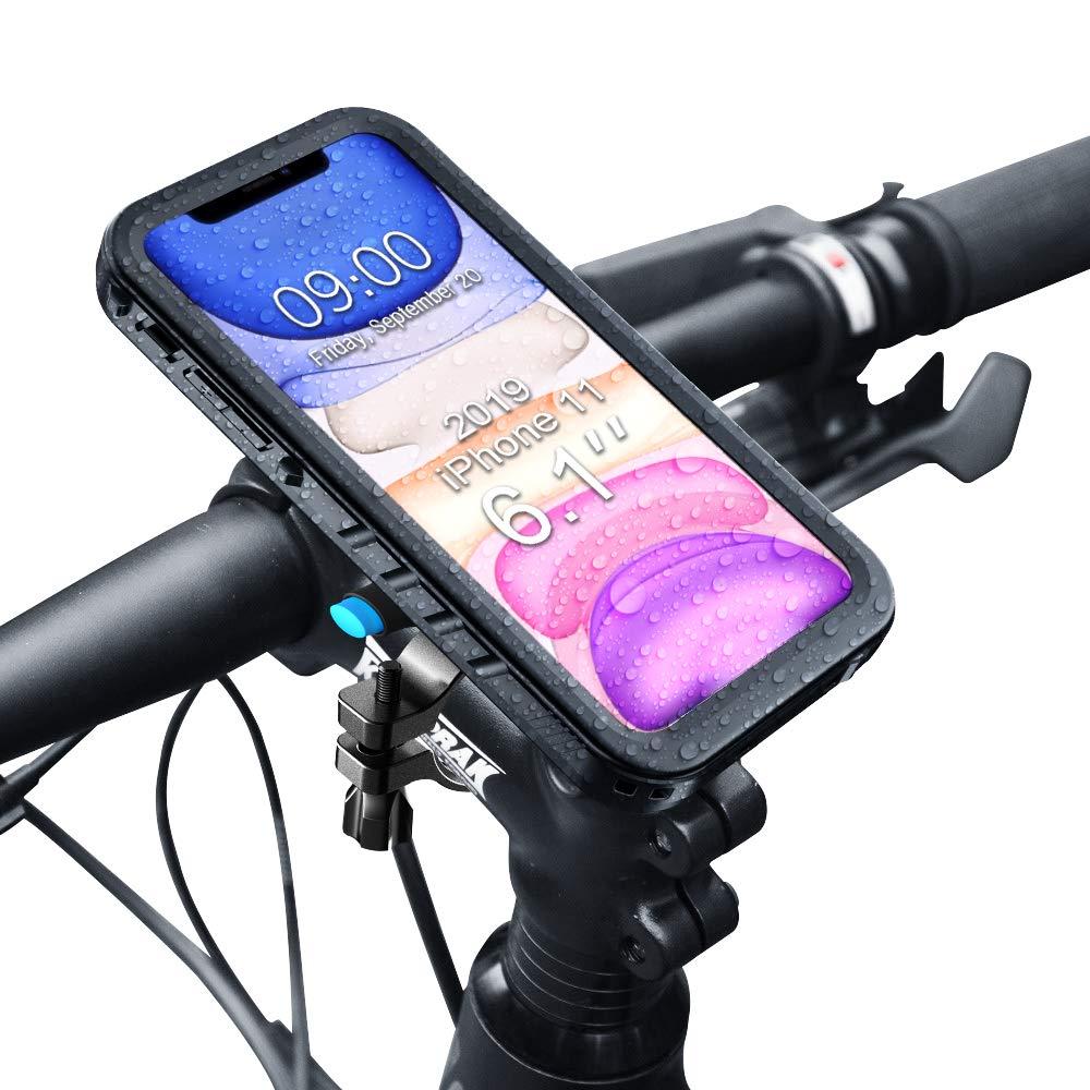 SPORTLINK Metal Bike Phone Mount - Waterproof Bicycle Case for iPhone 11, Motorcycle Handlebars Holder - Dropproof | Dustproof | Adjustable | Sturdy Cycling Accessories