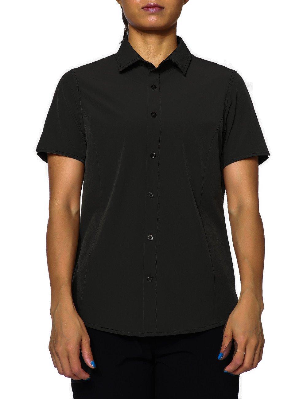 unitop Women's Short-Sleeve Work Shirt Fishing Shirt for Hiking Camping