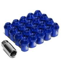 J2 Engineering LN-T7-006-15-BL Blue 7075 Aluminum M12X1.5 20Pcs L: 35mm Close End Lug Nut w/Socket Adapter