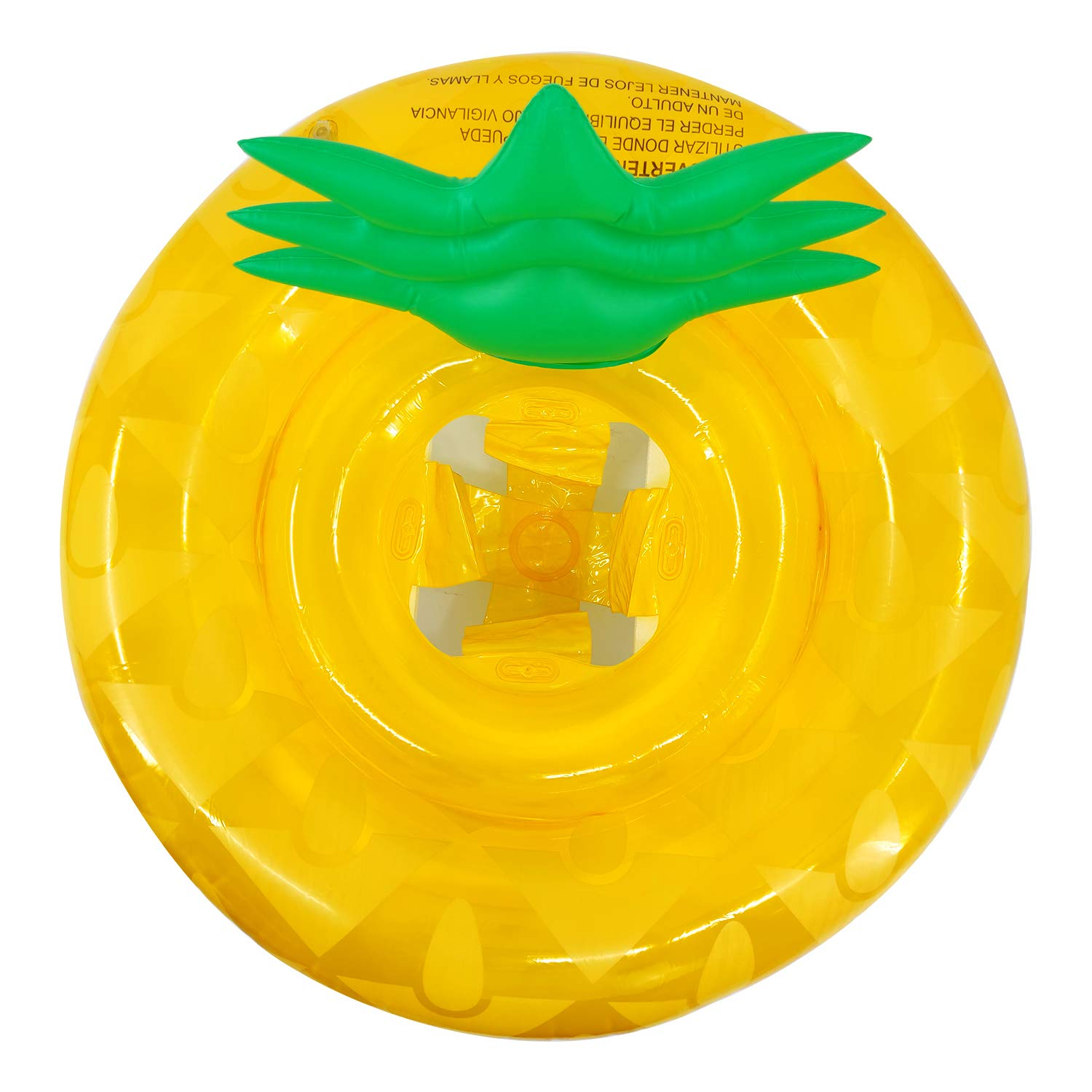Baby Pool Floats with Safety Seat & Backrest, Pineapple Shaped Swim Rings Float for Kids Toddler Babies Swimming Float Baby Floats Fruit Pool Toys for Swimming Pool Party Summer Beach Floaties
