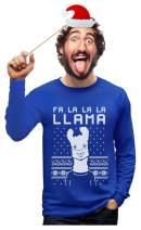 FA La La Llama Ugly Christmas Sweater Style Funny Long Sleeve T-Shirt