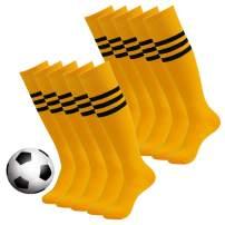 Stripe Tube Socks, DD DEMOISELLE Halloween Knee High Soccer Socks 2/6/10 Pairs
