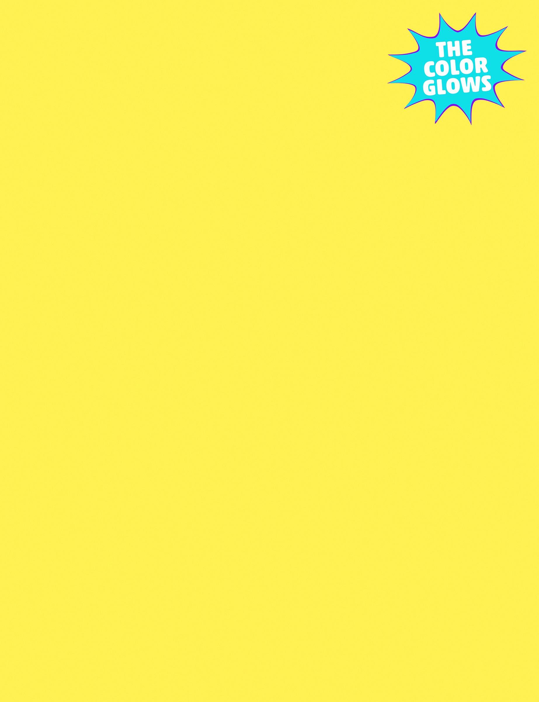 Kaleidoscope Multi-Purpose Paper, 8.5 x 11 Inches,Hyper Yellow, 500 Sheets (102200)