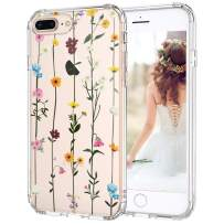 MOSNOVO iPhone 8 Plus Case, iPhone 7 Plus Clear Case, Wildflower Floral Clear Design Transparent Plastic Back Phone Case with TPU Bumper Case Cover for iPhone 7 Plus/iPhone 8 Plus
