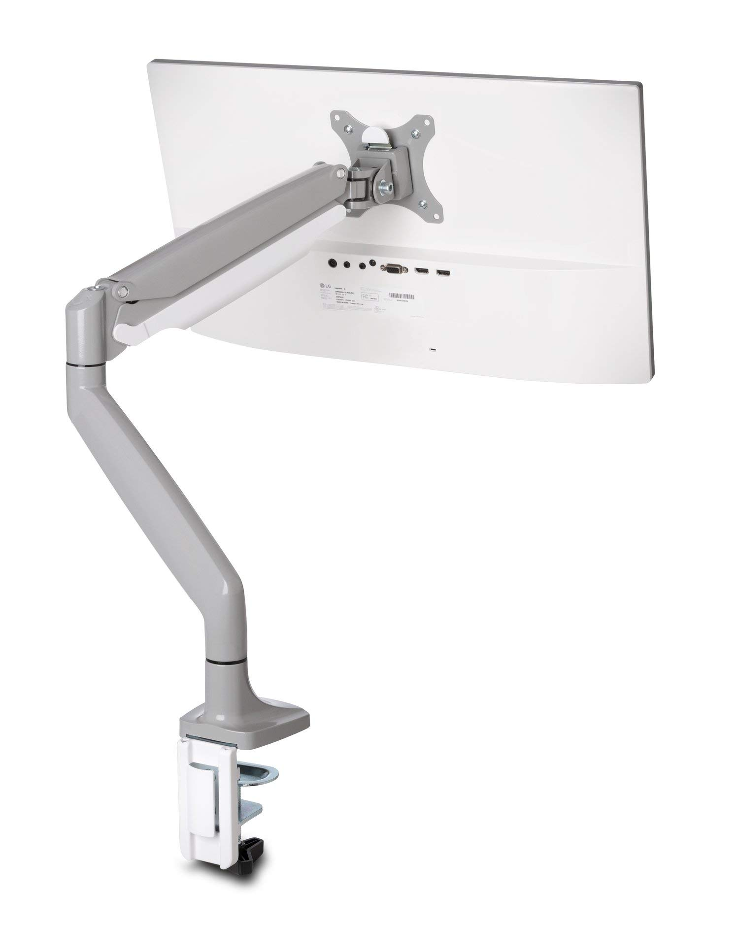 Kensington K55470WW Monitor Arm One Touch Height Adjustable, Single Monitor,White