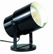 Satco SF77/394 Multi Purpose Portable Plant or Pin-Up Spot Light, Steel, Unknown, Black Finish