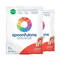 SpoonfulOne Allergen Introduction Puffs | Protection For Kids From Developing a Food Allergy | Snack for an Infant or Baby 6+ Months | Certified Organic (Strawberry - 14 Pack)