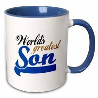 3dRose Worlds Greatest Son Mug, 11 oz, Blue