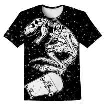 LAIDIPAS Boys Girls 3D Graphic Shirts Cool Crewneck T-Shirt Unisex Short Sleeve Top Tees 6-16 Years
