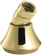 Kohler K-368-PB Deck- or Bath-Mount Handshower Holder with Hoses, Vibrant Polished Brass