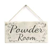 """Meijiafei Powder Room Rustic PVC Home Decor Toilet Door Sign/Plaque 10""""x5"""""""