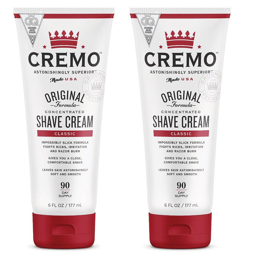 Cremo Original Shave Cream, Astonishingly Superior Smooth Shaving Cream Fights Nicks, Cuts and Razor Burn,6 Fluid Ounces , 2-Pack