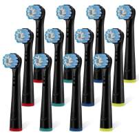 Toothbrush Replacement Heads-Compatible with Oral B Pro 1000 Power Electric Toothbrush, Gum Care Brush Head 12 Pack Black