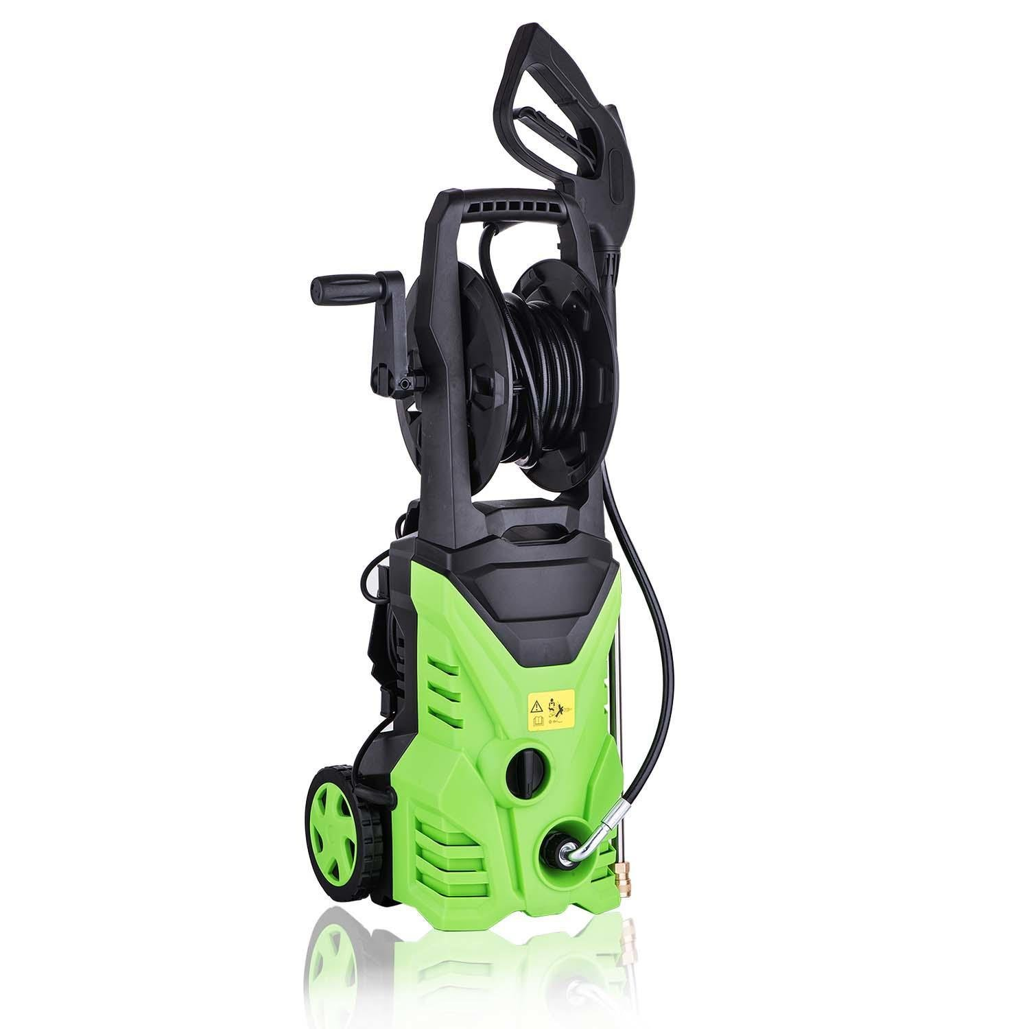 casulo 1600W 1.7GPM 2600PSI Electric Automatic Pressure Washer with Shaft 5 Quick Connect Spray Tips