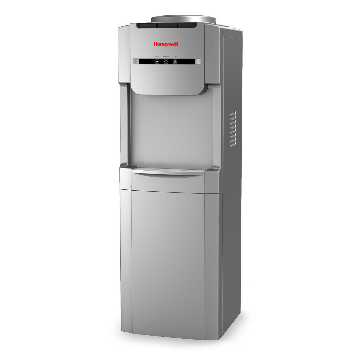 Honeywell Antibacterial Chemical-Free Technology, Hot and Cold Water Dispenser, Stainless Steel Tank, Adjustable Thermostat, Silver