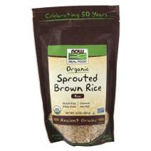 NOW Foods, Organic Sprouted Brown Rice, Raw, Gluten-Free and Whole Grain, 16-Ounce