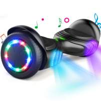 """TOMOLOO Hoverboard with Speaker and Colorful LED Lights Self-Balancing Scooter UL2272 Certified 6.5"""" Wheel for Adults and Child …"""