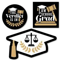Big Dot of Happiness Law School Grad - DIY Shaped Future Lawyer Graduation Party Cut-Outs - 24 Count