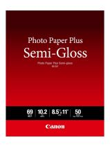 Canon Semi Gloss Inkjet Photo Paper, Letter Size (50 Sheets) for MX922, MG7720, MG6820, iP8720, iP110, MG3620 - SG-201 LTR(50)