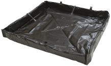 """AIRE INDUSTRIAL 918-020204B Duck Pond Portable Containment, 10 Gallon Spill Capacity, 24"""" Length x 24"""" Width x 4"""" Height, Black"""