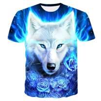 Genuxury Fashion Mens 3D Digital Printed Design Pattern T-Shirts Top Tees