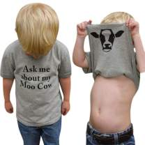 MODNTOGA Baby Ask me About My moo Cow, Toddler Kids Baby Boys T-Shirt Short/Long Sleeve Tops Tees