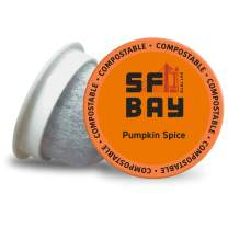 SF Bay Coffee Pumpkin Spice 80 Ct Flavored Medium Roast Compostable Coffee Pods, K Cup Compatible including Keurig 2.0