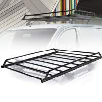 """Universal Rooftop Cargo Basket Heavy Duty Cargo Roof Carrier Rack Ideal for SUV,Truck,Car, Roof Top Luggage Carrier for Hauling Luggage. SIZE: L48.4"""" x W38"""" x H4.5"""", 1 Year Warranty"""