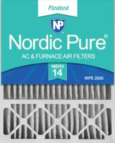 Nordic Pure 20x25x5 (4-3/8 Actual Depth) Lennox X6675 Replacement AC Furnace Air Filter, MERV 14, 4 Pack