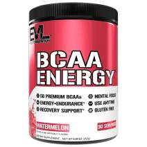 Evlution Nutrition BCAA Energy - Essential BCAA Amino Acids, Vitamin C, Natural Energizers for Performance, Immune Support, Muscle Building, Recovery, B Vitamins, Pre Workout, 30 Serve, Watermelon