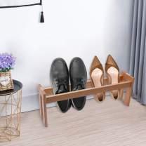 Bamyko Innovative Shoe Rack - Solid Natural Wood Shoe Shelf for Bathroom, Bedroom, Entryway, Hallway, and Closet