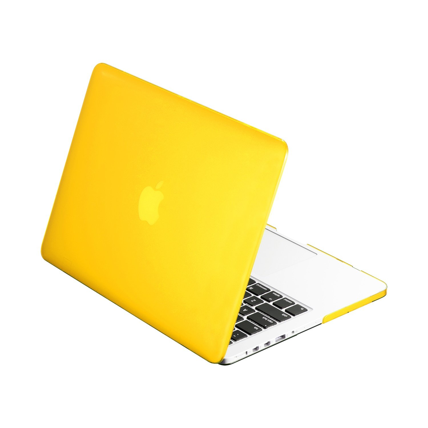 """TOP CASE - Classic Series Rubberized Satin Hard Case Compatible Old Generation MacBook Pro 15"""" A1398 with Retina Display (Release 2012-2015) - Yellow"""