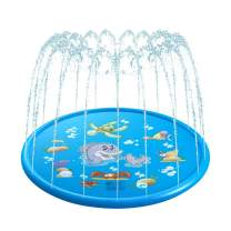 VOLADOR Sprinkler for Kids, 68 inches Water Play Mat, Children Pool Pad, Outdoor Inflatable Water Spray Pad for Toddlers