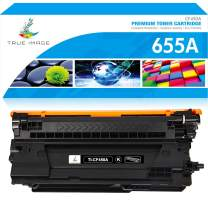 True Image Compatible Toner Cartridge Replacement for HP 655A CF450A Toner for HP Laserjet Enterprise M652dn M653dn M652 M653 M652n M653x M681dh Flow MFP M681f M681z M682z (Black, 1-Pack)