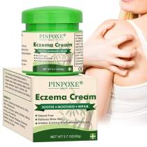 Eczema Cream, Eczema Therapy, Psoriasis Cream for Dry, Irritated Skin, Itch Relief, Dermatitis, Rosacea, and Shingles, Natural Formula Promotes Healing and Calms Redness, Rash and Itching Fast, 0.7 oz