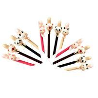 WIN-MARKET Fashion Cute Colorful Cute Kawaii Lovely Animal Rabbit Panda Bear Cartoon Black Gel Ink Roller Ball Pens Stationary (6PCS)